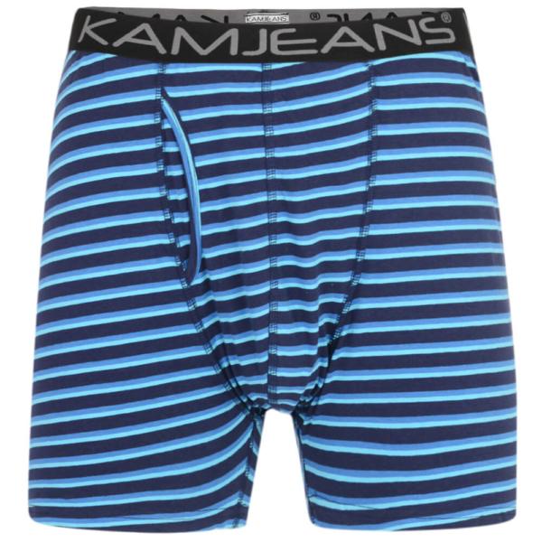 Kam Twin Pack Stripe Boxers