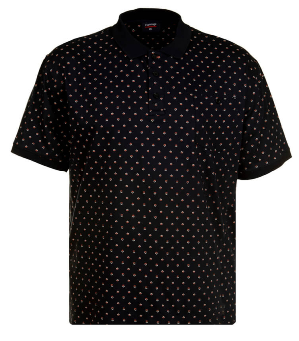 ALL OVER FLORAL PRINT JERSEY POLO NAVY