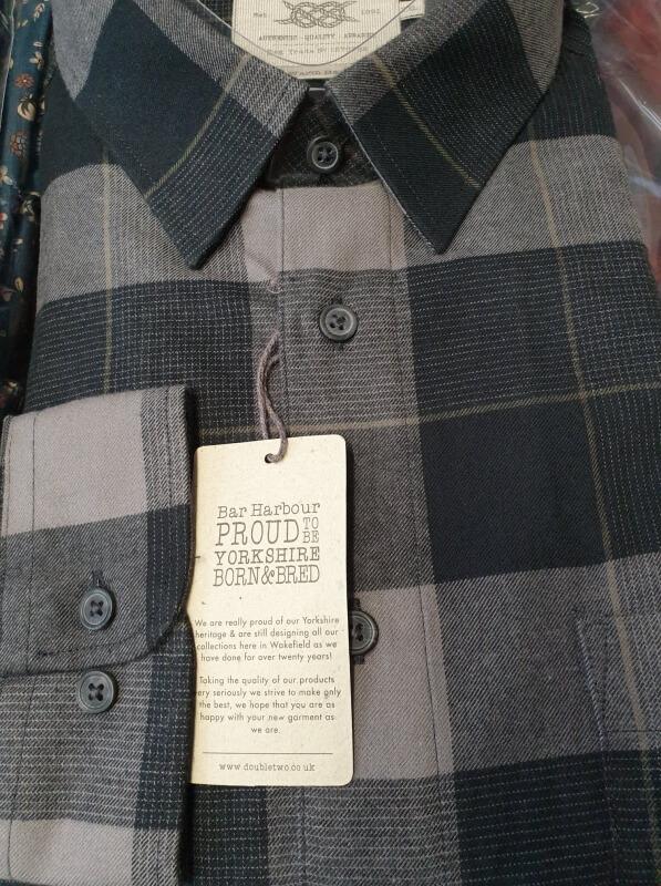 Bar-Harbour-Grey-Check-Shirt