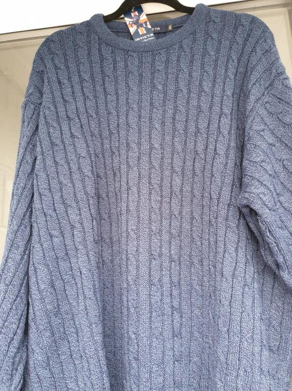 Invicta-cable-knit-jumper-blue