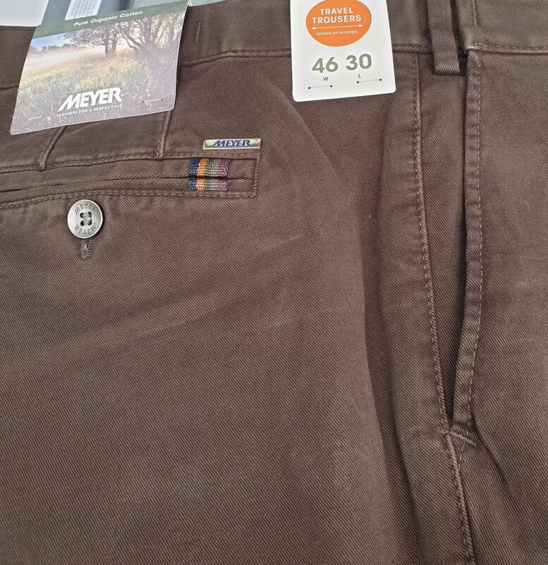 Meyer Oslo Trousers Dark Brown