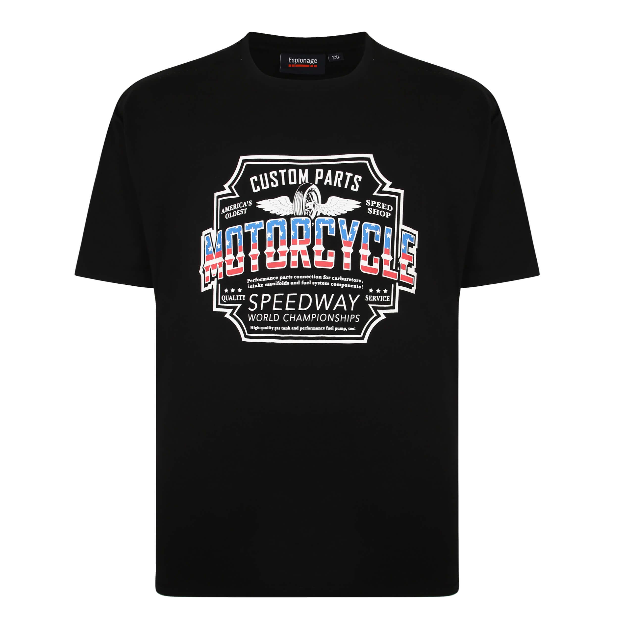 Espionage Motorcycle Print Tee Shirt