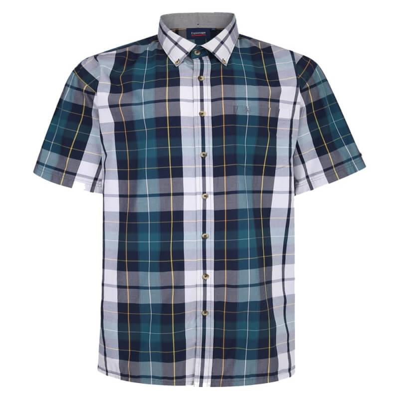 espionage-332-check-shirt-blue