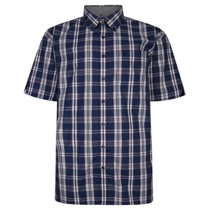 espionage-dark-blue-check-shirt