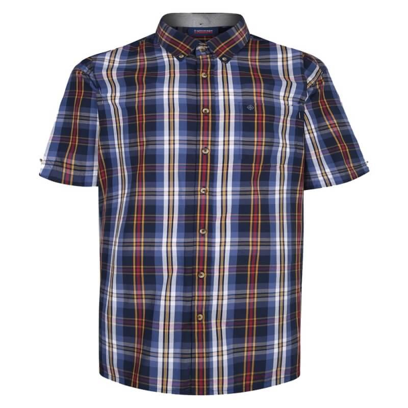 espionage-dark-blue-tan-check-shirt