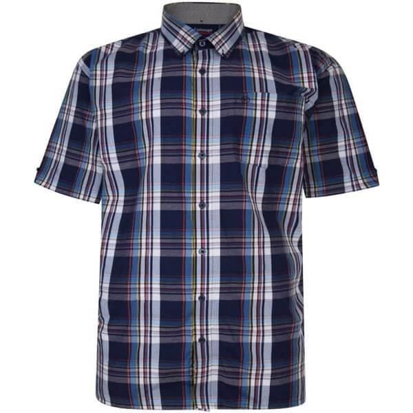 espionage-dark-blue-white-check-shirt